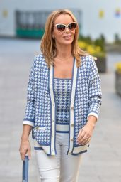 Amanda Holden in Check Top and White Denim  03/09/2021