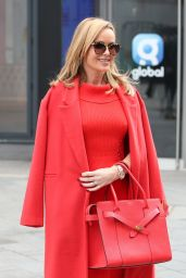 Amanda Holden in Red Top and Skirt - London 03/01/2021