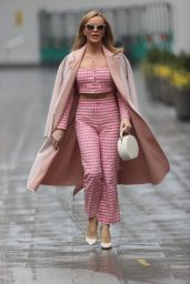 Amanda Holden Wears Gingham Top and Trousers 03/03/2021