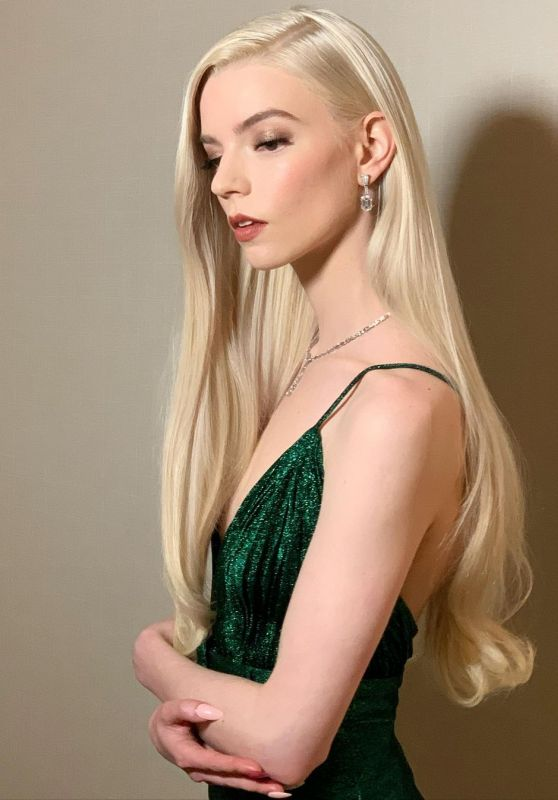 Anya Taylor-Joy - Dressed for the Golden Globes 2021