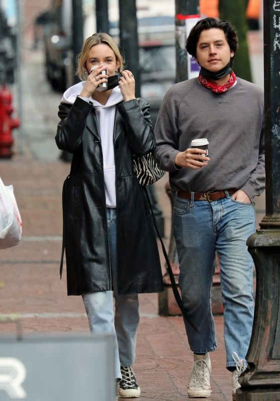 Ari Fournier and Cole Sprouse - Out in Vancouver 03/07/2021