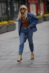 Ashley Roberts Wears River Island Double Denim Outfit 03/26/2021