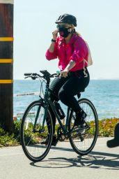Bebe Rexha - Bike Ride at the Beach in Santa Monica 03/21/2021