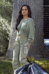 Becky G - Shooting a Commercial in LA 03/30/2021