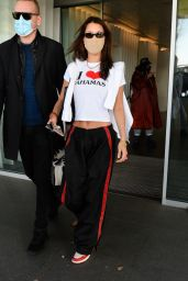 Bella Hadid Arriving in Italy for Milan Fashion Week 02/28/2021