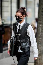 Bella Hadid is Stylish - Exits the Mandarin Oriental Paris Hotel 03/05/2021