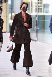 Bella Hadid – Leaving a Versace Fitting in Milan 02/28/2021