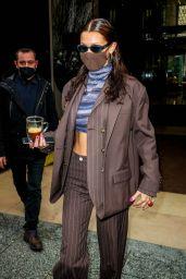 Bella Hadid - Leaving Her Hotel in Paris 03/04/2021