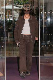 Bella Hadid - Leaving Her Hotel in Paris 03/06/2021