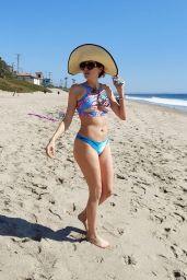Blanca Blanco in a Blue Printed Bikini - Malibu 03/06/2021