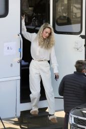 Brie Larson on a Film Set in Los Angeles 03/09/2021
