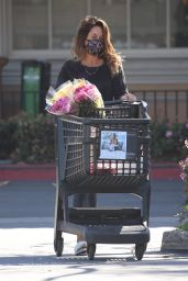 Brooke Burke - Makes a Flower Purchase at Ralphs in Malibu 03/05/2021