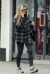 Caprice Bourret Make-up Free Out in London 03/23/2021