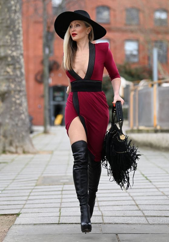 Caprice in Tigh Dress and Boots - London 03/11/2021