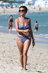Chanel West Coast in Lavender Bikini in Miami 03/01/2021