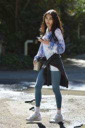 Chantel Jeffries in a Baggy Tie Dye Sweater - LA 03/02/2021