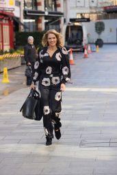 Charlotte Hawkins in Floral Jump Suit 03/19/2021
