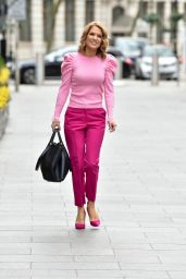 Charlotte Hawkins in Pink at Classic FM in London 03/05/2021