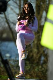 """Chloe Brockett at """"The Only Way is Essex"""" TV Show Filming 03/09/2021"""