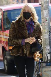 Chloe Sevigny in Leopard Coat in NYC 03/29/2021
