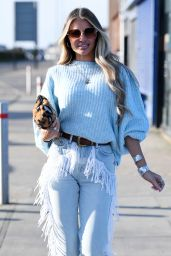 """Chloe Sims at """"The Only Way is Essex"""" TV Show Filming 03/09/2021"""