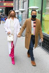 Chrissy Teigen and John Legend - Out in NYC 03/06/2021