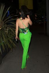 Christine Chiu in a Green Outfit at Tesse in West Hollywood 03/28/2021