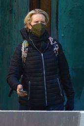 Cynthia Nixon - Running Errands in Manhattan's Downtown Area 03/03/2021