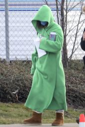 """Daisy Edgar-Jones With a Green Jacket and Uggs - """"Fresh"""" Set in Vancouver 03/18/2021"""
