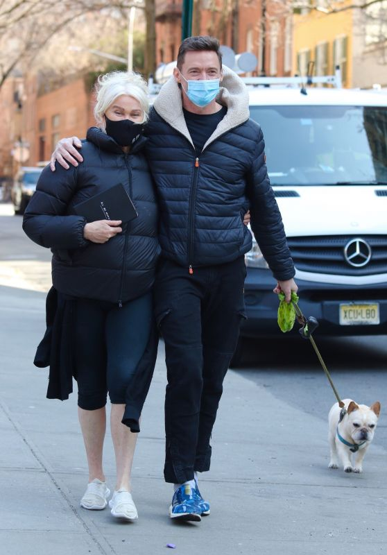 Deborra-Lee Furness and Hugh Jackman - Out in Manhattan's Downtown Area 03/10/2021
