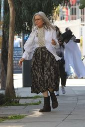 "Diane Keaton - ""Mack and Rita"" Filming Set in Silver Lake 03/24/2021"