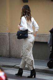 Elisabetta Canalis Street Style - Milan 03/02/2021