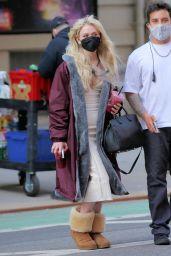 "Emily Alyn Lind - ""Gossip Girl"" Filming Set in New York 03/23/2021"