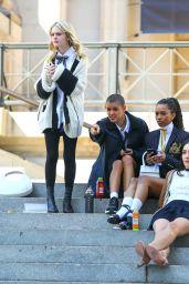 "Emily Alyn Lind - ""Gossip Girl"" Reboot at Metropolitan Museum of Art, NY 03/09/2021"