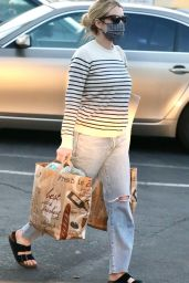 Emma Roberts - Grocery Shopping in Beverly Hills 03/01/2021
