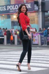 Estrella Nouri in Times Square in New York 03/28/2021