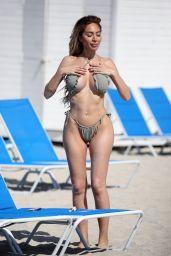 Farrah Abraham in a Bikini on the Beach in Miami 03/13/2021