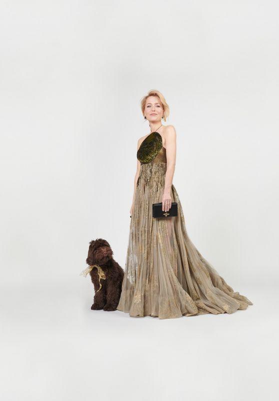 Gillian Anderson - Golden Globes 2021 Photos