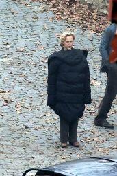 "Gillian Anderson - ""White Bird: A Wonder Story"" Set in Kutna Hora 03/03/2021"