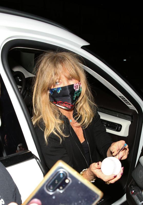 Goldie Hawn at Giorgio Baldi Restaurant in Santa Monica 03/10/2021