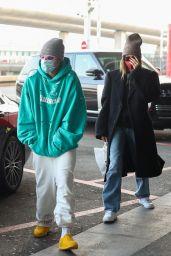 Hailey Rhode Bieber at Roissy CDG Airport in Paris 03/03/2021
