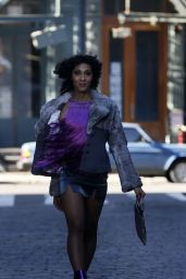 """Indya Moore, Hailie Sahar, Mj Rodriguez and Dominique Jackson - """"Pose"""" Filming Set in NY 03/15/2021"""