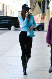 Irina Shayk - Leaving a Versace Fitting in Milan 02/28/2021