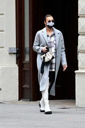 Irina Shayk - Leaving Her Apartment Building in NYC 03/17/2021