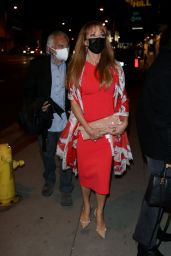 Jane Seymour in a Red Dress - Los Angeles 03/27/2021