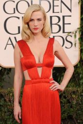 January Jones - Wearing a Golden Globes Dress From 10 Years Ago 02/28/2021