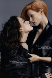 Jessica Chastain and Kat Dennings - Photoshoot for W Magazine 2010