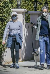 Jodie Foster and Alexandra Hedison - Out in Santa Monica 03/23/2021