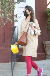 Jordana Brewster in Casual Outfit in Brentwood 03/24/2021