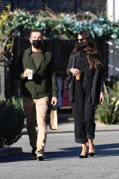 Jordana Brewster With Her Boyfriend in Brentwood 03/12/2021